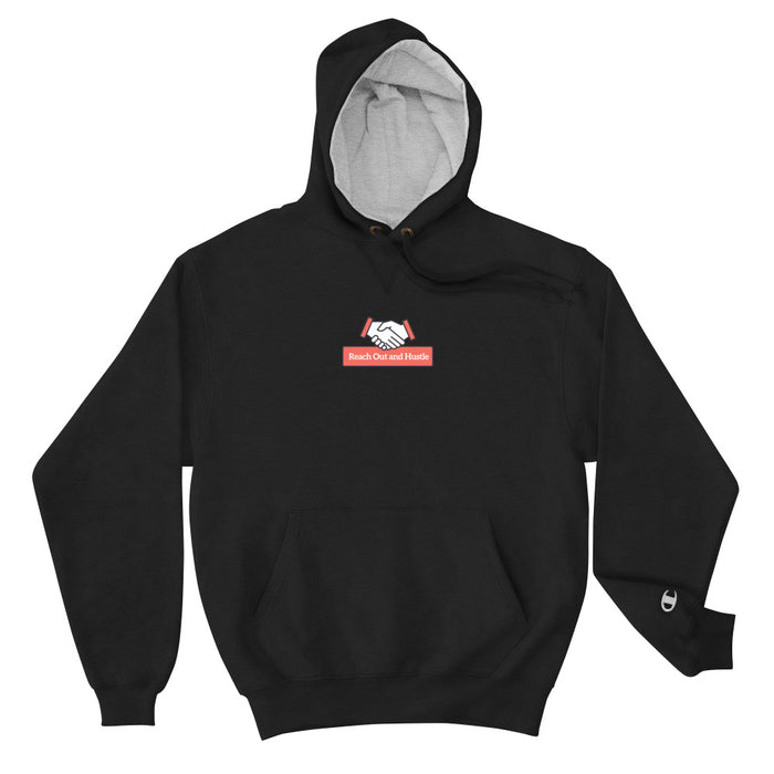 Reach Out & Hustle Champion Hoodie - Black