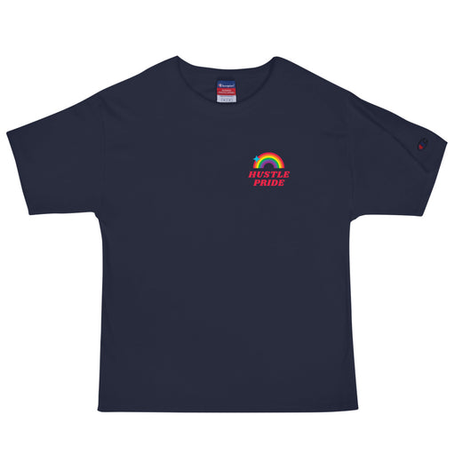 Hustle Pride Men's Champion T-Shirt - Navy