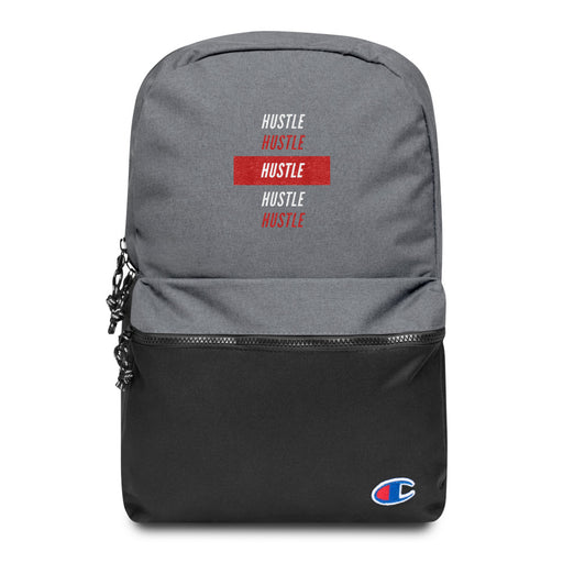 Hustle Over Hustle Embroidered Champion Backpack