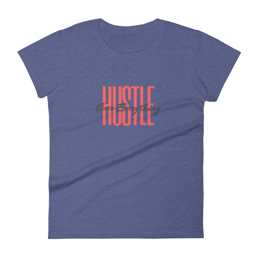 Throwback Hustle Women's Short Sleeve T-shirt - Heather Blue