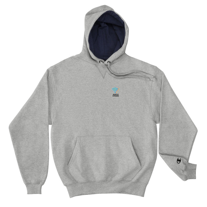 Hustle Strong Champion Hoodie - Navy