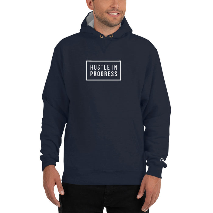 Hustle in Progress Champion Hoodie - Navy
