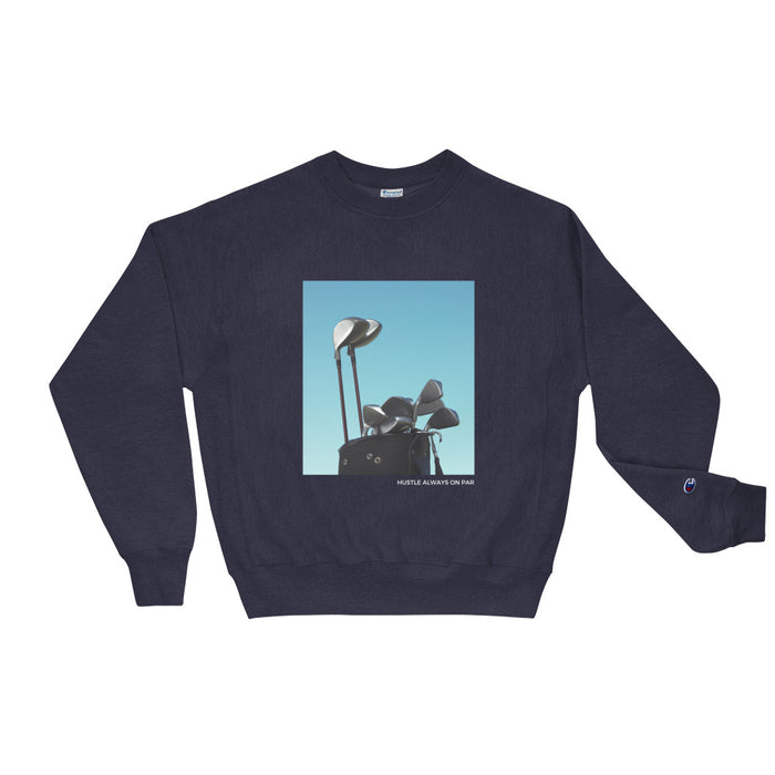 Hustle Always On Par Champion Sweatshirt - Navy