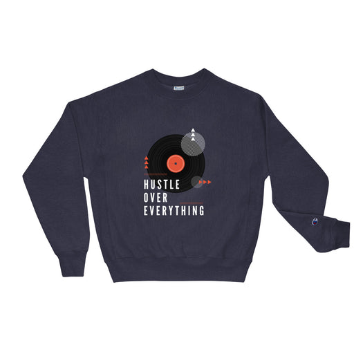Old School Hustle Champion Sweatshirt - Navy