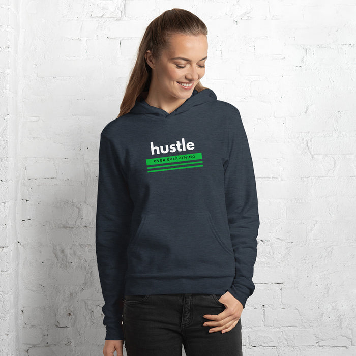 Green Hustle Hoodie - Heather Navy