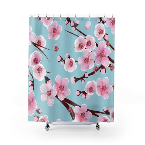 Japanese Cherry Blossom Shower Curtains - Southern Candle Studio