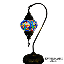 Load image into Gallery viewer, Aria Boho Handcrafted Medium Mosaic Table Lamp