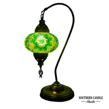 Load image into Gallery viewer, Erma Boho Handcrafted Large Swan Neck Mosaic Table Lamp