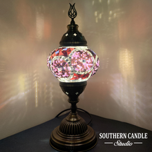 Load image into Gallery viewer, Purple Dream Mosaic Table Lamp-Medium