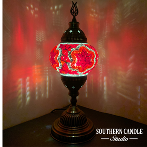 Passionate Boho Handcrafted Mosaic Table Lamp-Medium
