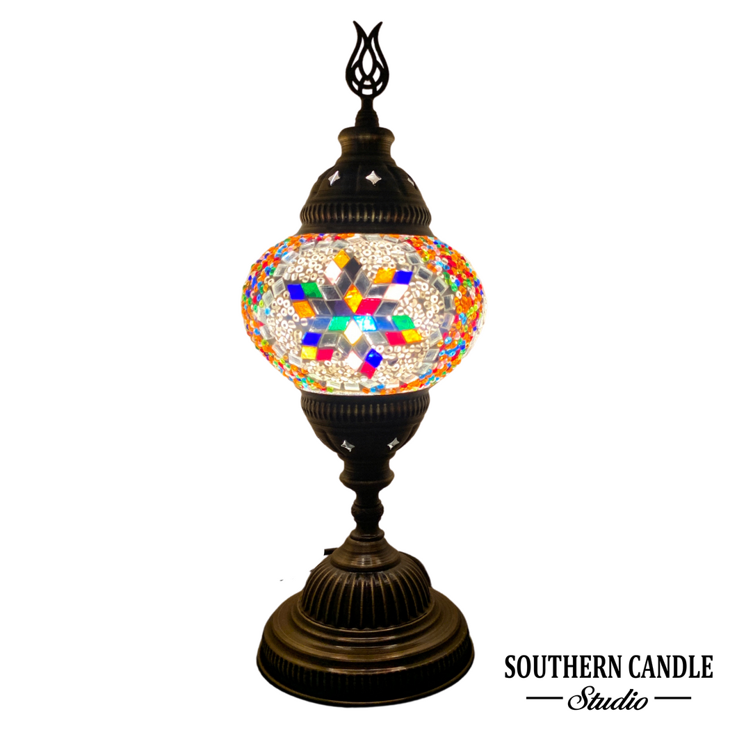 Halicarnassus Multicolor Medium Mosaic Table Lamp
