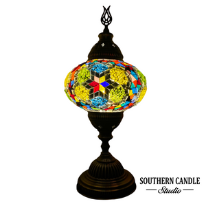Stained Boho Handcrafted Mosaic Table Lamp