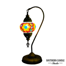Load image into Gallery viewer, Sophia Handcrafted Mosaic Table Lamp-Medium Swan Neck