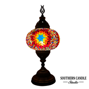 Large Rainbow Star Boho Handcrafted Mosaic Table Lamp