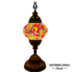 Energetic Stars Handcrafted Medium Mosaic Table Lamp