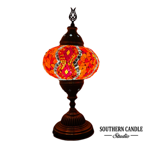 Red Kilim Handcrafted Large Mosaic Table Lamp