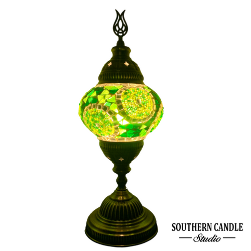 Emerald Dreams Medium Mosaic Table Lamp