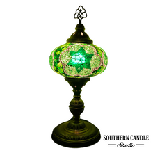 Load image into Gallery viewer, Urartu Green Boho Handcrafted Premium Mosaic Table Lamps
