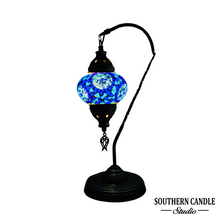 Load image into Gallery viewer, Tiffany Handcrafted Mosaic Table Lamp-Medium Swan Neck