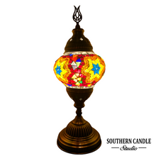 Load image into Gallery viewer, Smyrna Boho Handcrafted Medium Mosaic Table Lamp