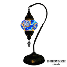 Load image into Gallery viewer, Yolanda Handcrafted Mosaic Table Lamp-Medium Swan Neck