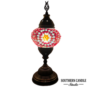 Confident Red Medium Mosaic Table Lamp