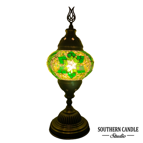 Emerald Star Medium Mosaic Table Lamp