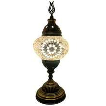 Load image into Gallery viewer, Confident Clear Handcrafted Medium Mosaic Table Lamp