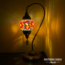 Load image into Gallery viewer, Lois Boho Handcrafted Medium Mosaic Table Lamp