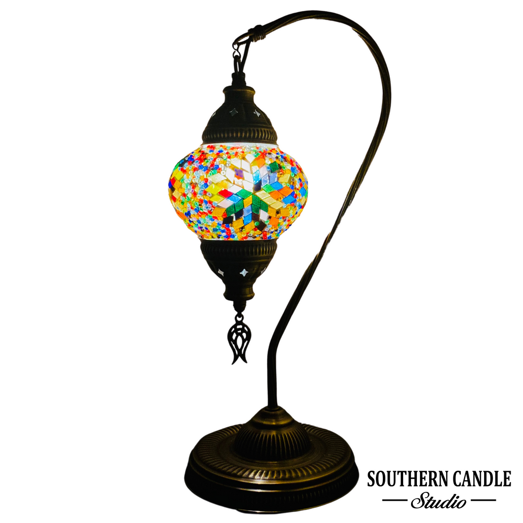 Melaine Boho Handcrafted Medium Mosaic Table Lamp