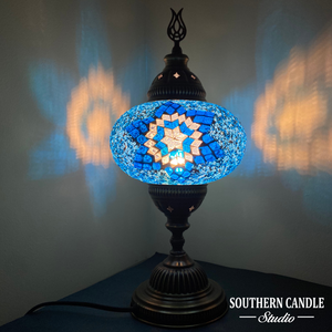 Aqua Star Handcrafted Mosaic Large Table Lamp
