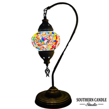 Load image into Gallery viewer, Helene Boho Handcrafted Medium Mosaic Table Lamp