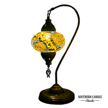 Load image into Gallery viewer, Hagia Sofia Boho Handcrafted Large Swan Neck Mosaic Table Lamp