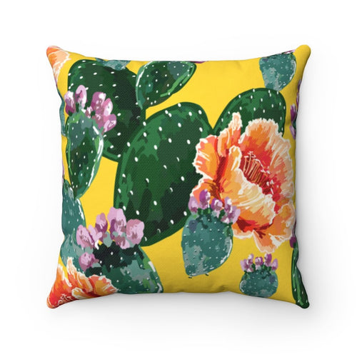 Cactus Flowers Square Pillow - Southern Candle Studio