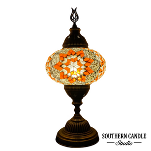 Large Sunrise Stars Handcrafted Mosaic Table Lamp