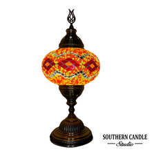 Load image into Gallery viewer, Hurmuz Handcrafted Mosaic Table Lamp