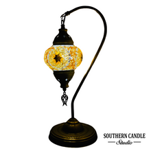 Load image into Gallery viewer, Galata Handcrafted Mosaic Table Lamp-Medium Swan Neck
