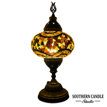 Load image into Gallery viewer, Circle Kilim Motif Handcrafted Large Mosaic Table Lamp