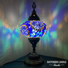 Load image into Gallery viewer, Blue Dreams Handcrafted Large Mosaic Table Lamp