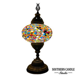 Colorful Handcrafted Large Mosaic Table Lamp