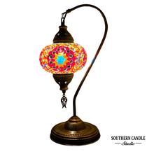 Load image into Gallery viewer, Constantinapole Boho Handcrafted Large Swan Neck Mosaic Table Lamp
