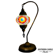 Load image into Gallery viewer, Charlotte Boho Handcrafted Medium Mosaic Table Lamp