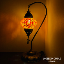 Load image into Gallery viewer, Lyric Boho Handcrafted Medium Mosaic Table Lamp