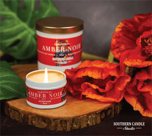 Amber Noir Soy Wax Candle 4oz. - Southern Candle Studio