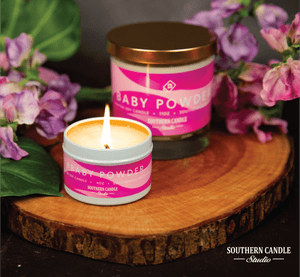 Baby Powder Soy Wax Candle 4 oz. - Southern Candle Studio