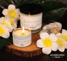 Load image into Gallery viewer, Beach Linen Soy Wax Candle 4 oz. - Southern Candle Studio