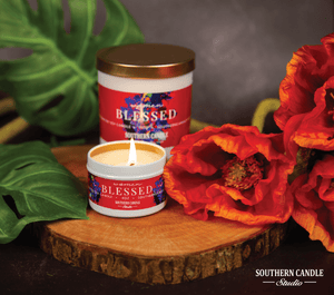 Blessed Soy Wax Candle 4 oz. - Southern Candle Studio