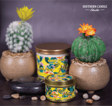 Load image into Gallery viewer, Cactus Flowers Soy Wax Candle 4 oz. - Southern Candle Studio