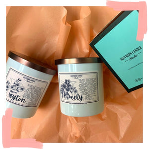 Name Soy Wax Candle