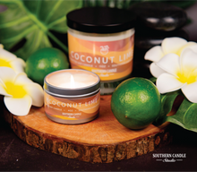 Load image into Gallery viewer, Coconut Lime 4 Soy Wax Candle oz. - Southern Candle Studio